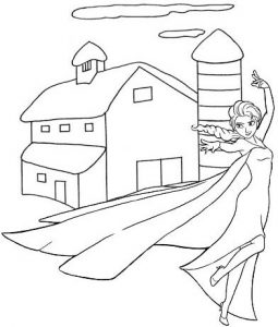 Elsa the Snow Queen Coloring Page of Frozen