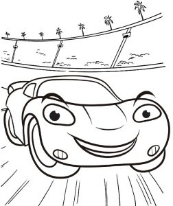 Favorite Lightning McQueen Coloring Sheet for Boys