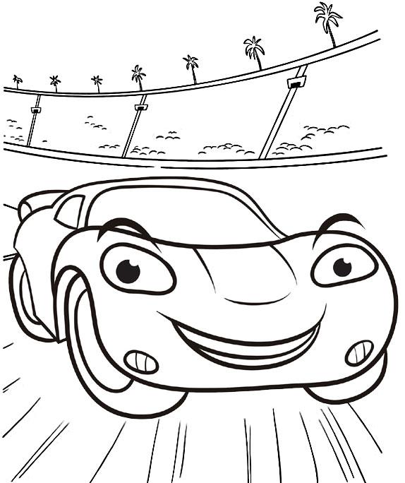 Favorite Lightning McQueen Coloring Sheet For Boys - Mitraland