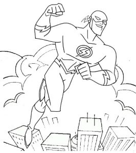 Flash Superhero Coloring Page