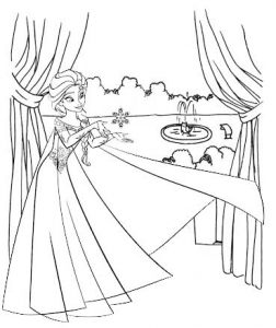 Frozen 3 Coloring Sheet for Kids