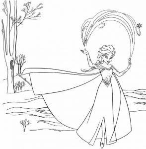 Frozen Coloring Elsa Page of Disney for Girls