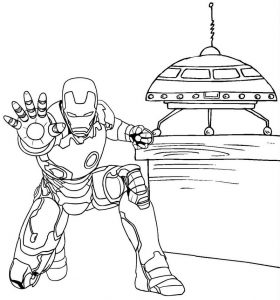 Iron Man Endgame Coloring Page of Superhero