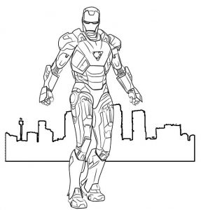 Iron Man Marvel Coloring Sheet for Boy
