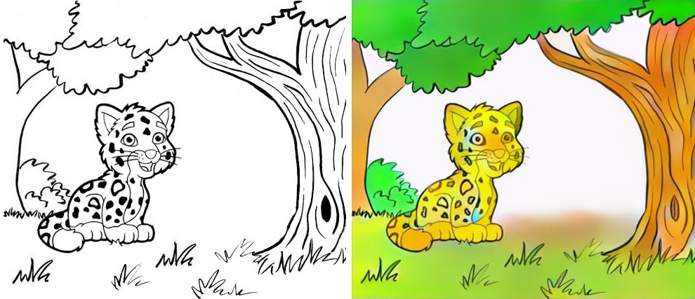 Lion Tiger Coloring Page 26 Coloring Page - Free Jaguar Coloring ... | 427x990
