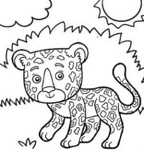 Jaguar in the Jungle Coloring Sheet