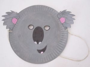 Koala Mask Paper Plate Craft