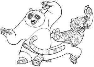 Kung Fu Panda Fighting Coloring Sheet