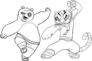 Kung Fu Panda Hero Coloring Page