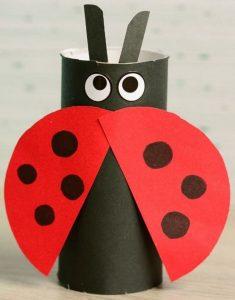 Ladybug Toilet Paper Roll Craft