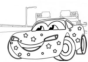 Lightning McQueen Coloring Sheet of Cars 2