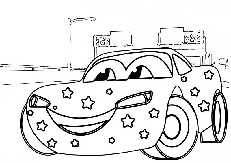 Lightning McQueen Coloring Sheet Of Cars 2 - Mitraland