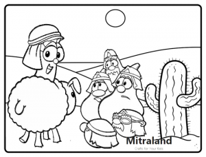 NIRV Veggietales Bible Coloring Page for Kids