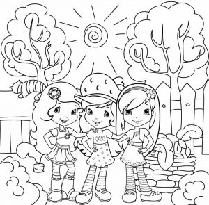 Orange Blossom Strawberry Shortcake and Raspberry Torte Coloring Sheet