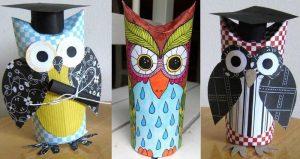Owl Graduation Toilet Paper Roll Craft