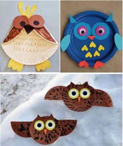 Paper Plate Craft of Owl