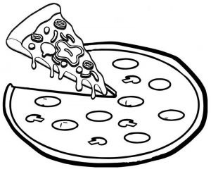 Pizza Coloring Page of Food