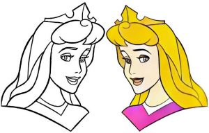 Princess Aurora Coloring Work from Andmesh