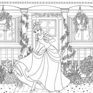 Princess Cinderella Coloring Sheet