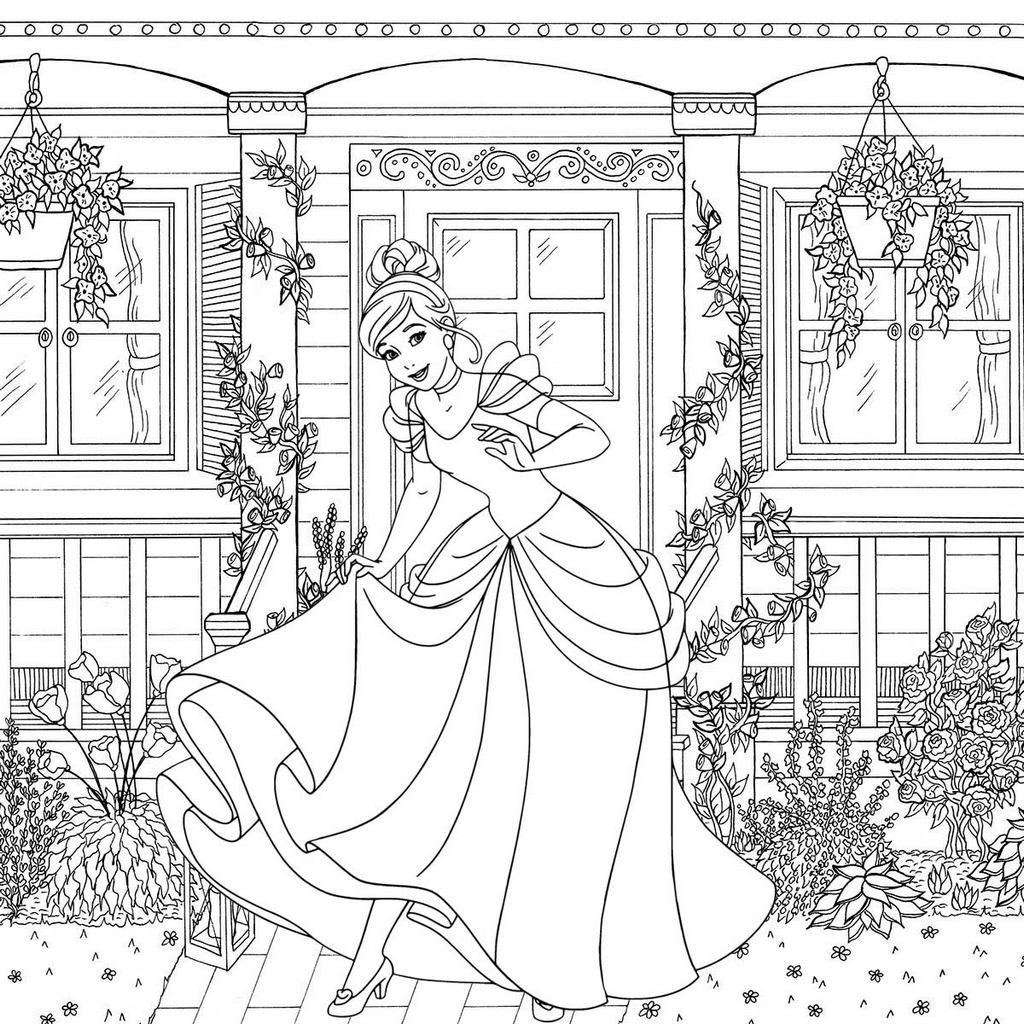 10 Wonderful Cinderella Coloring Pages For Little Girls Mitraland