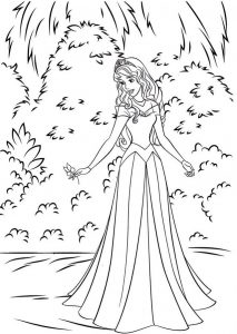 Princess Coloring Page of Aurora