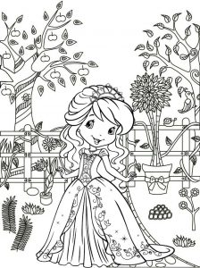 Princess Coloring Page of Strawberry Shortcake