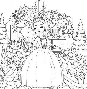 Princess Coloring Sheet of Amber