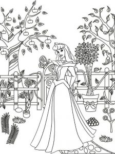 Princess Sleeping Beauty Coloring Sheet of Disney Aurora