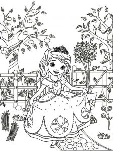 Princess Sofia the First Coloring Page