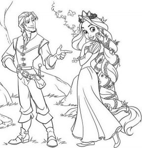 Rapunzel Coloring Page of Princess