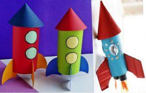 Rocket Toilet Paper Roll Craft