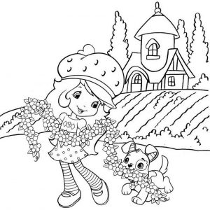 Shortcake and Pupcake Coloring Page fof Kid