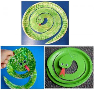 Snake Paper Plate