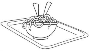 Spaghetti Coloring Page of Food