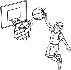 Sport Player Coloring Page of Basketball