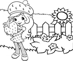 Strawberry Shortcake in the Garden Coloring Sheet