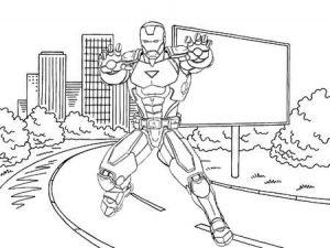 Super Cool Iron Man Armor Coloring Sheet