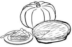 Thanksgiving Pie Coloring Page of Food