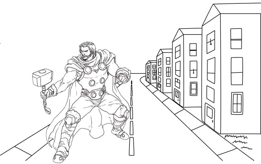 Thor Coloring Pages Gallery - Whitesbelfast | 627x1000