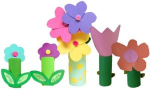Toilet Paper Roll Craft Flower and Vase