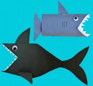 Toilet Paper Roll Fish Craft Shark