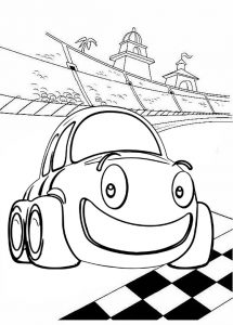 Top Racing Car Coloring Page of Lightning McQueen for Kids