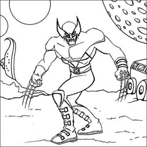X Men Coloring Page of Superhero