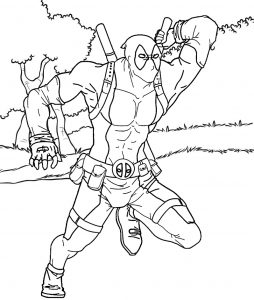 Best Deadpool Scene Coloring Page for All Ages