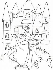 Cinderella Coloring Disney Page for Little Girls
