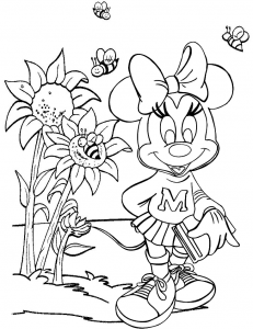 Cute Minnie Mouse Coloring Page