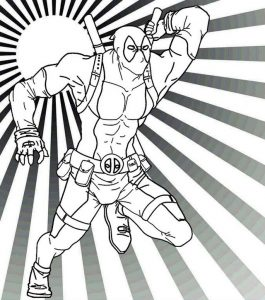 Deadpool Superhero Coloring Sheet