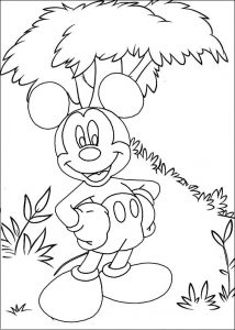 Fun Mickey Mouse Coloring Page of Disney