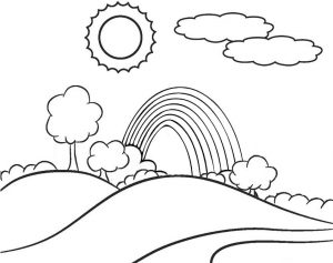 Hills Rainbow Coloring Page