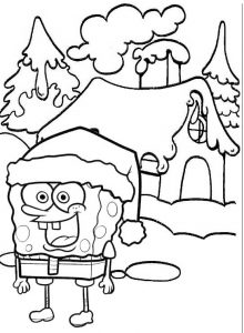 Its Spongebob Christmas Adventure Coloring Sheet for Kid